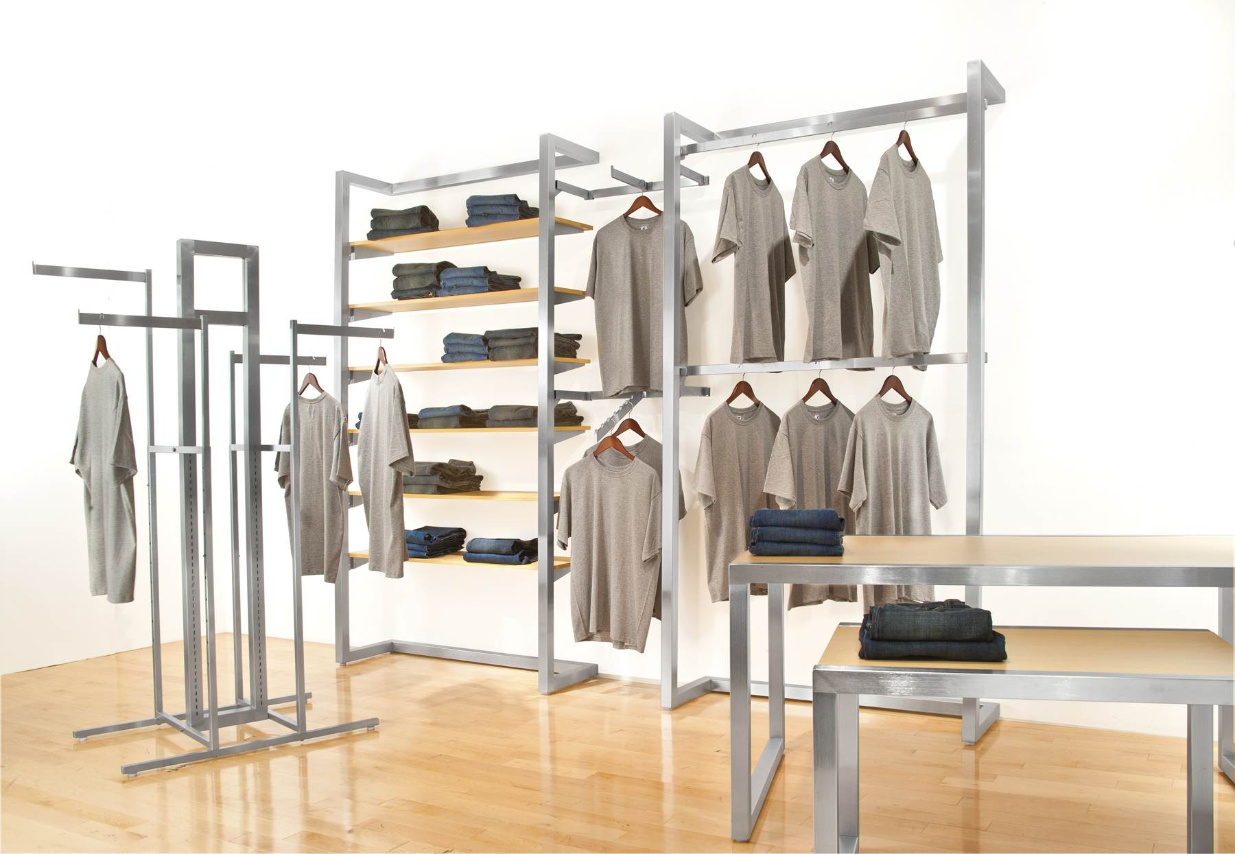 Alta Clothing Display Racks Clothes Table Displays