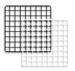 14 In Black Grid Squares Gridwall Wire Box